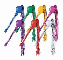 Metallic Assorted Colors Tasseled Maracas