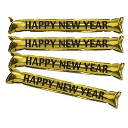 "Gold Metallic ""Make Some Noise"" HNY Party Sticks"