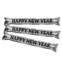 Silver Metallic Make Some Noise  HNY Party Sticks