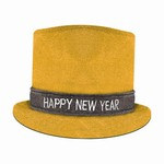 Gold Glitz N Sparkle Happy New Year Top Hat