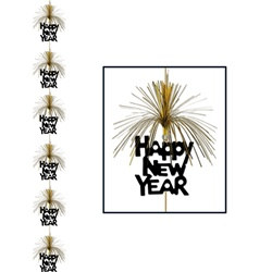Black and Gold Happy New Year Firework Stringer