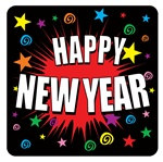 Happy New Year Coasters (8/pkg)