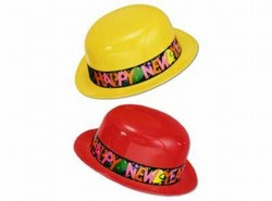 Assorted Plastic New Year Derby Hat