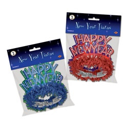 Happy New Year Regal Tiaras (2/pkg)