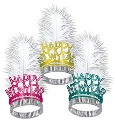 Miami Nites New Year Tiaras (sold 50 per box)