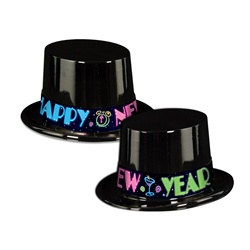 Neon New Year Topper Hats
