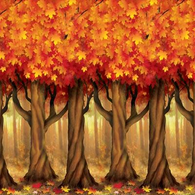 Fall Trees Backdrop Partycheap