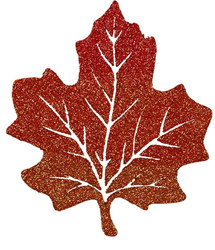 Glittered Maple Leaf 10 inch