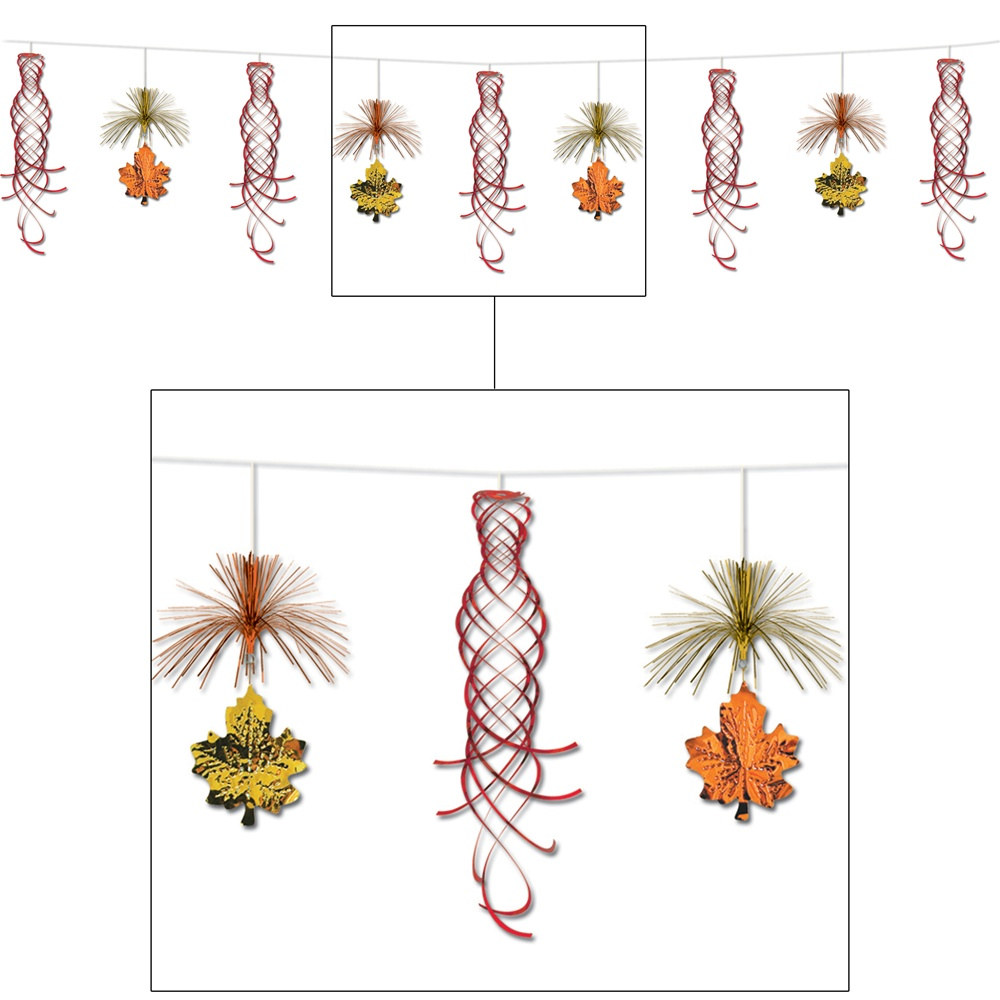 Leaf Shimmering Garland PartyCheap