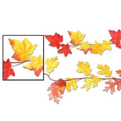 Autumn Leaf Garlands (1/pkg) (Assorted Designs)