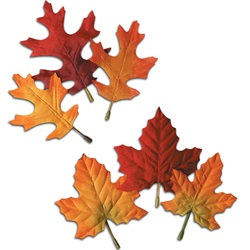 Assorted Fabric Autumn Leaves