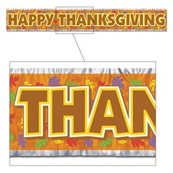 Metallic Thanksgiving Banner