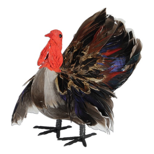 3 D Feather Turkey Decoration 1pkg PartyCheap