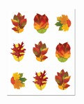 Clear-Sheet Autumn Leaf Stickers (3 sheets/pkg)