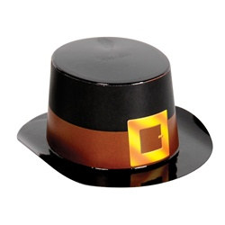 Mini Black Top Hat with Buckle Band