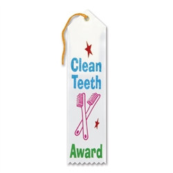 Clean Teeth Award Ribbon