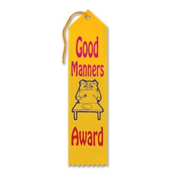 Good Manners Award Ribbon