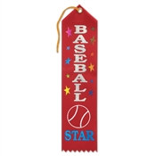 Baseball Star Ribbon