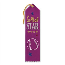 Softball Star Ribbon