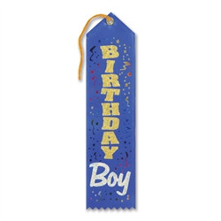 Blue Birthday Boy Ribbon
