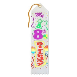 My 8th Birthday Ribbon