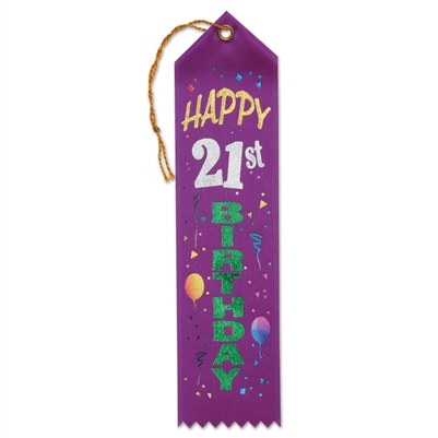 Happy 21st Birthday Ribbon