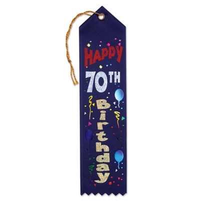 Happy 70th Birthday Ribbon