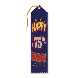 Happy 75th Birthday Ribbon