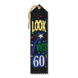 Look Who's 60 Ribbon