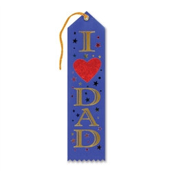 I (Heart) Dad Ribbon