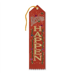 Blessings Happen Ribbon