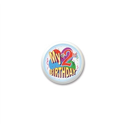 My 2nd Birthday Blinking Button