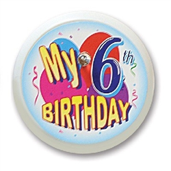 My 6th Birthday Blinking Button