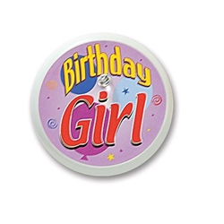 Birthday Girl Blinking Button