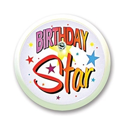 Birthday Star Blinking Button