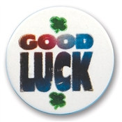 Good Luck Satin Button
