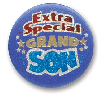 Extra Special Grandson Satin Button