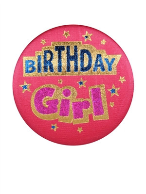 Birthday Girl Satin Button
