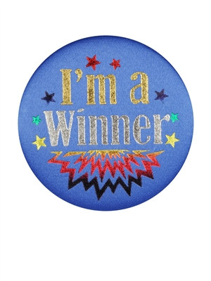 I'm A Winner Satin Button