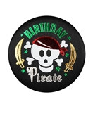 Birthday Pirate Satin Button