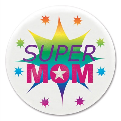 Super Mom Satin Button