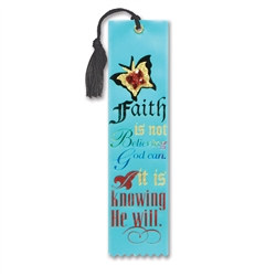 Faith Is Knowing That He Will Jeweled Bookmark