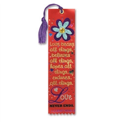 Love Bears All Things Jeweled Bookmark