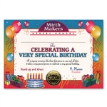 Very Special Birthday Award Certificates (6 Certificates/Pkg)