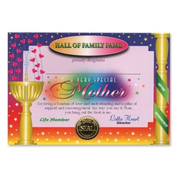 Very Special Mother Award Certificates (6 Certificates/Pkg)