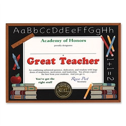 Great Teacher Award Certificates (6 Certificates/Pkg)
