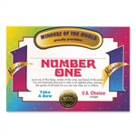 Number One Person Award Certificates (6 Certificates/Pkg)