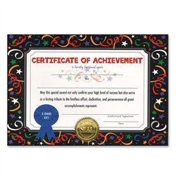 Certificate Of Achievement Award Certificates (6 Certificates/Pkg)