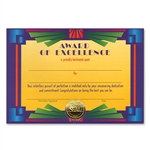 Award Of Excellence Award Certificates (6 Certificates/Pkg)