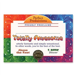 Totally Awesome Award Certificates (6 Certificates/Pkg)